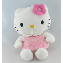 Doudou chat HELLO KITTY robe rose SANRIO LICENSE