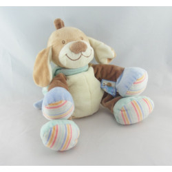 Doudou musical chien beige bleu escargot NATTOU