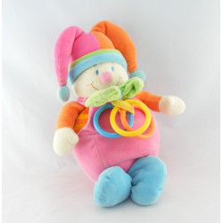 Doudou hochet Clown multicolores JOLLYBABY