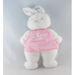 Doudou lapin blanc robe rose KLORANE