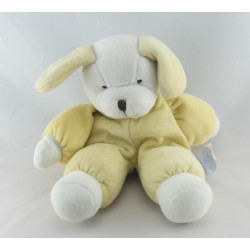 Doudou chien blanc jaune COMPTINE