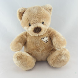 Doudou ours brun tête ours brodée NICOTOY