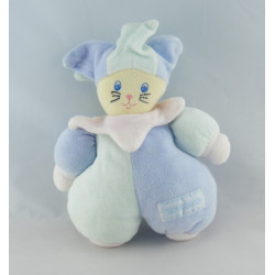 Doudou chat pirate bleu gris poisson NOUNOURS