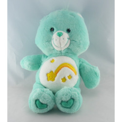Peluche Bisounours vert Grostaquin étoile filante CARE BEARS 33 cm