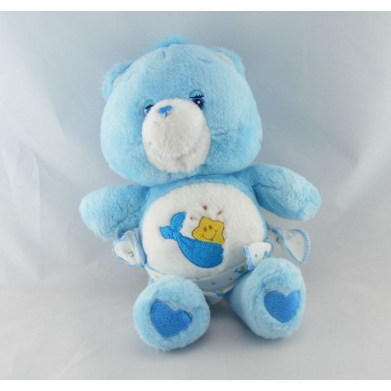 Peluche Bisounours bleu avec couche Ti Coquin CARE BEARS
