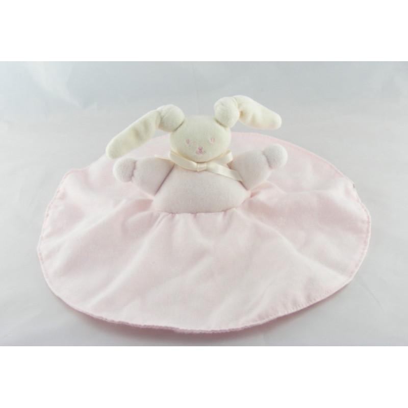 Doudou plat lapin Patachou rose fleurs Corolle