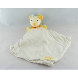 Doudou souris jaune coeur rouge BABYSUN