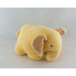 Doudou éléphant beige blanc DPAM