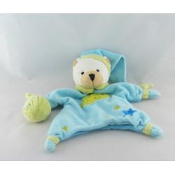 Doudou marionnette ours bleu vert UN REVE DE BEBE Poudre à dormir