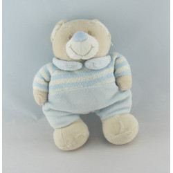 Doudou chien beige collier bleu JOLLYBABY