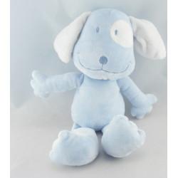 Doudou chien bleu rouge TAPE A L'OEIL