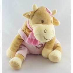 Doudou vache Lola Rosalie écharpe rose BENGY