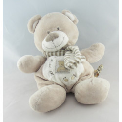 Doudou ours écru beige My Little Teddy NICOTOY 30 CM