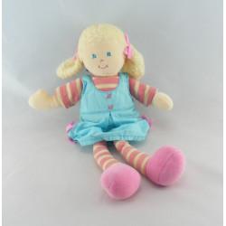 Doudou poupée bébé fille rose souris AJENA