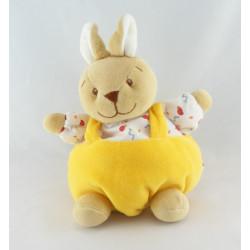 Doudou lapin jaune Gaspard abeille NOUKIE'S