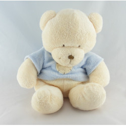 Doudou ours blanc pull rose coeur NICOTOY