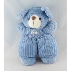 Doudou ours bleu CALIN ET BISOU