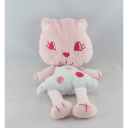 Doudou semi plat chat rose AUCHAN