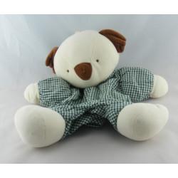 Doudou musical koala blanc marron vichy vert SUCRE D'ORGE