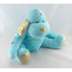 Doudou chien bleu gris avec ailes Ange DOUGLAS