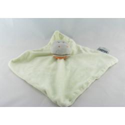 Doudou plat hippopotame gris vert INFLUX