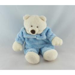 Doudou ours bleu coussin CMP