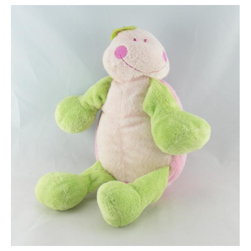 Doudou tortue rose vert KIMBALOO
