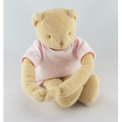 Doudou musical ours beige rose TROUSSELIER