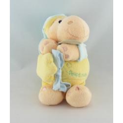 Doudou hippopotame arlequin jaune bleu BABY NAT