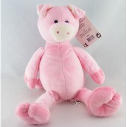 Doudou lapin rose avec mouchoir PLAYKIDS