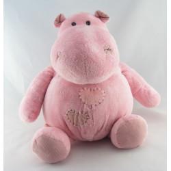 Doudou hippopotame déguisé en girafe PLANET PLUCH