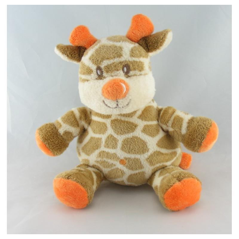 Doudou girafe cornes oranges KIMBALOO LA HALLE