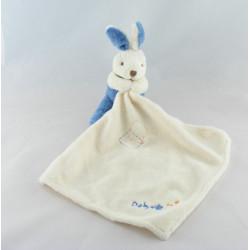 Doudou Lapin blanc avec mouchoir Baby nat