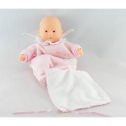 Doudou bébé avec mouchoir rose à pois Minirêves COROLLE