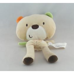 Doudou ours bleu AUCHAN
