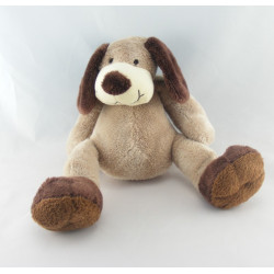 Doudou chien blanc marron KIMBALOO