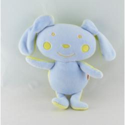 Doudou lapin bleu vert bonbon DPAM