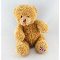 Doudou hochet anneau ours beige BABIAGE