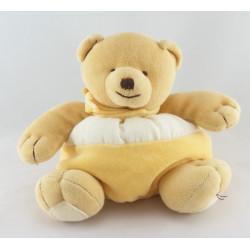 Doudou hochet ours jaune blanc NATURE ET DECOUVERTE