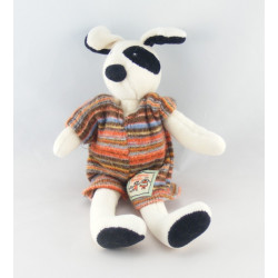 Doudou chien blanc cocard noir MOULIN ROTY