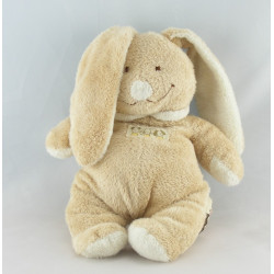 Doudou musical lapin beige blanc NICOTOY