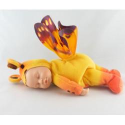 Poupée papillon jaune ANNE GEDDES 25 cm
