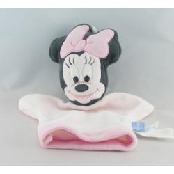 Doudou plat marionnette rose souris MINNIE DISNEY BABY