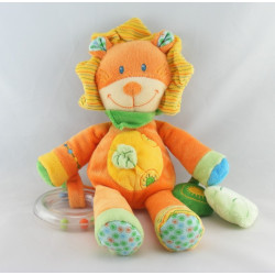 Doudou musical Lion Orange Jaune Nicotoy