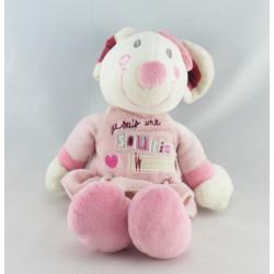 Doudou plat rose Je suis une souris comme ça NICOTOY