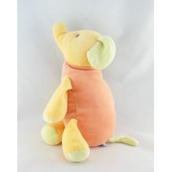 Doudou Eléphant Orange Sucre d'Orge