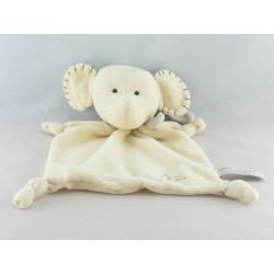 Doudou éléphant blanc écru Kiss Me TIAMO