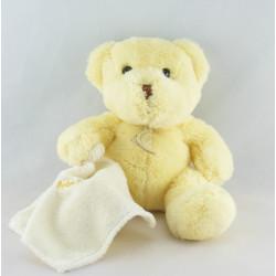 Doudou ours rose avec mouchoir Baby nat