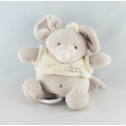 Doudou éléphant gris écru TIAMO COLLECTION