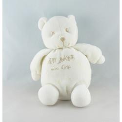 Doudou ours blanc petit bonheur SUCRE D'ORGE